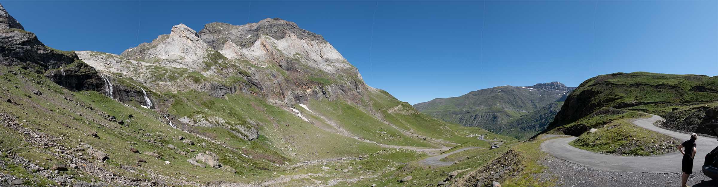 Anfahrt zum cirque de troumouse Berge