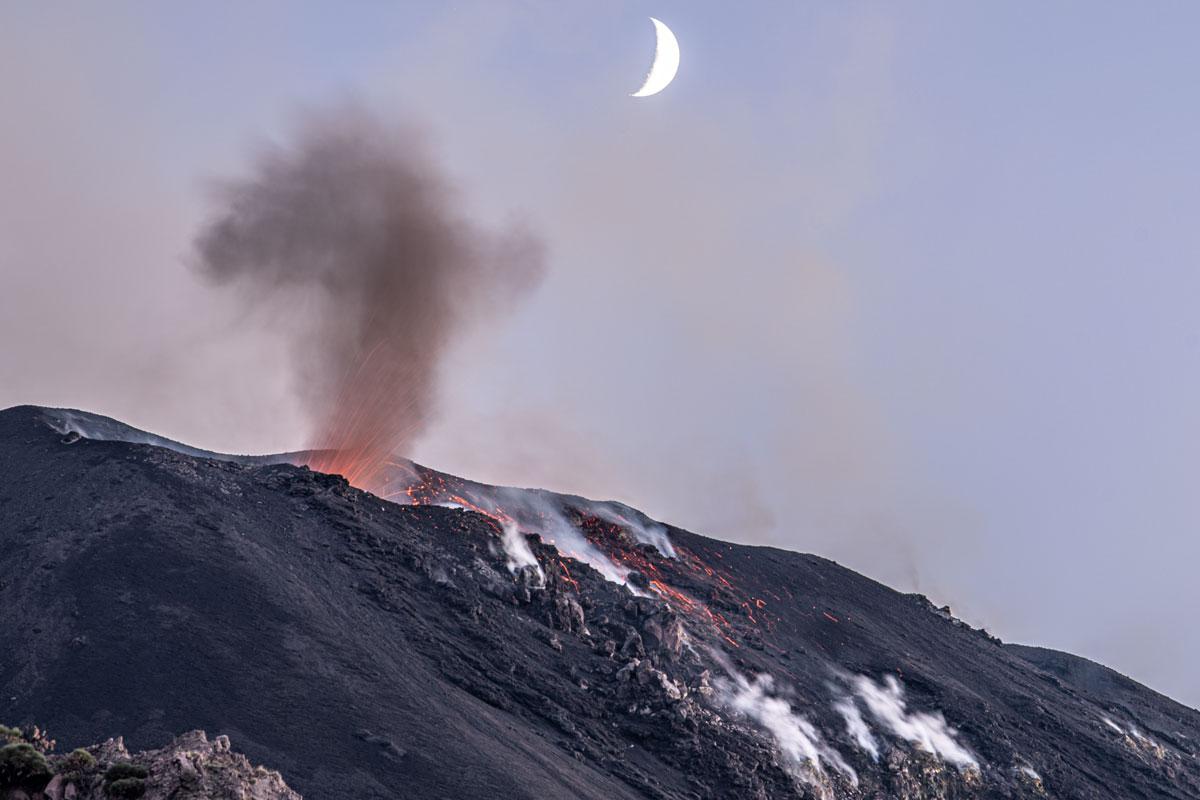 Auf den Vulkan geht Du am Besten wenn es dunkel wird