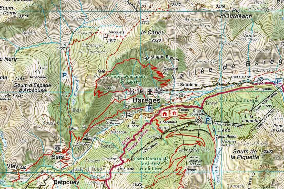 Karte um Bareges