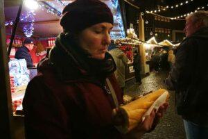 Auf dem Weihnachtsmarkt in Bruegge