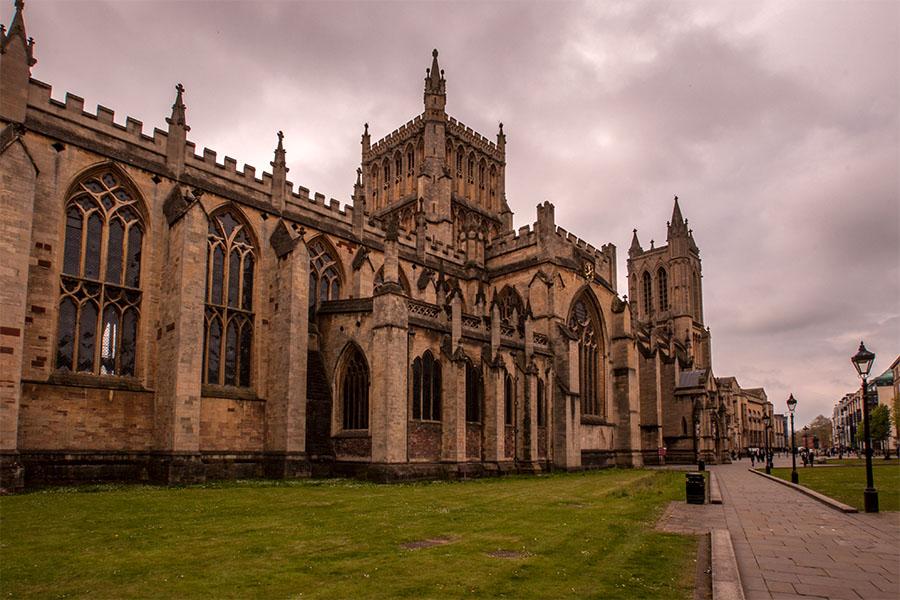 Aussenansicht der kathedrale von Bristol