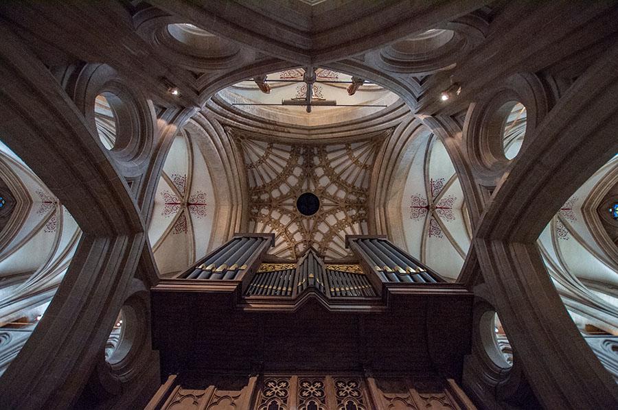 Die Orgel der Kathedrale von Wells