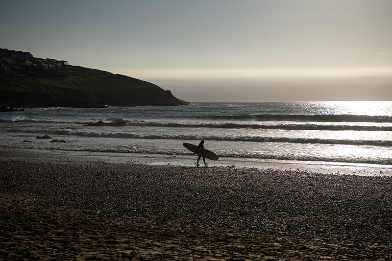Surfer am Fistral Beach